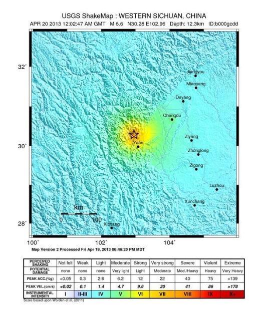Terremoto in Cina